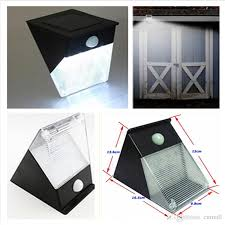 Motion Detector Light Outdoor by 12 Led Outdoor Solar Wall Lamp Solar Triangle Light Pir Motion
