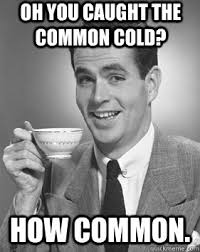 Common Memes - oh you caught the common cold how common condescending posh