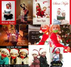 silent night funny christmas card christmas lights decoration