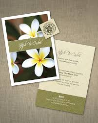 wedding invitations island frangipani wedding invitation ink wedding invitations