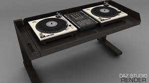 Dj Desk Dj Desk Props Scenes And Architecture For Daz Studio And Poser