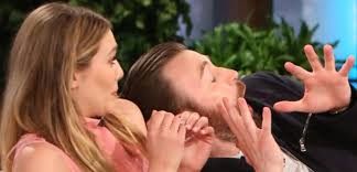 Ellen Bathroom Scares Iron Man Scares Chris Evans And Elizabeth Olsen On Ellen Degeneres