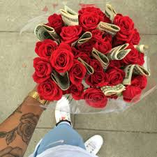 money flowers money tattoo