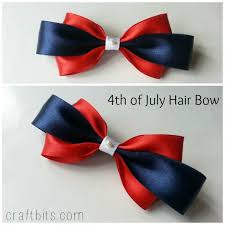 fourth of july hair bows make a 4th of july inspired hair bow craftbits