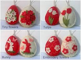 pre order for easter felt easter decoration felt egg with bunny