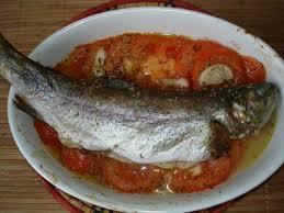 cuisiner truite au four truite au four à la provençale recette de ma poissonière
