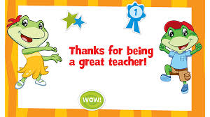 thank you cards for teachers leapfrog thank you card