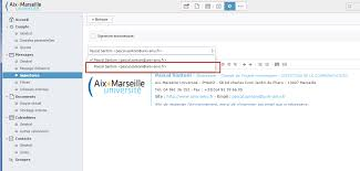 bureau virtuel aix marseille faq signature email direction de la communication