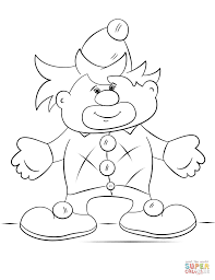 cartoon clown coloring page free printable coloring pages