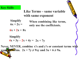 combine like terms i can simplify expressions with several