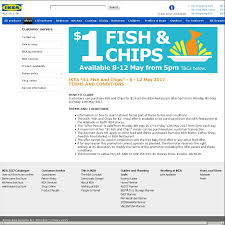 ikea u201c 1 fish and chips u201d adelaide u0026 perth stores after 5 pm
