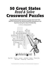 nonfiction reading passages and crosswords