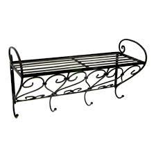 china cheap iron wall rack shelf with hooks shelves for sale buy