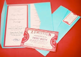 wedding blog ticket themed wedding