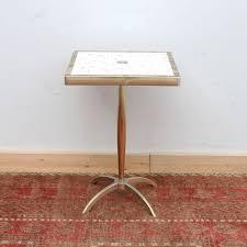 mid century modern accent table vintage mid century modern tile top accent table ebth