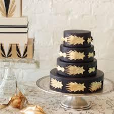 birthday cake with art deco details black gold pinterest