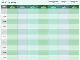 daily work schedule template excel best template u0026 design images