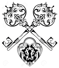 tattoo design of lock ands key royalty free cliparts vectors and