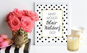 design bureau inspiring dialogue on what would blair waldorf do black and gold polka dot