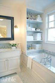 Narrow Storage Shelves by Close Up Of The Bathroom Shelves With Basketsnarrow Cabinet Mirror