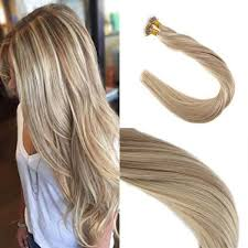 pre bonded hair extensions remy human nano ring hair extensions two tone color ash