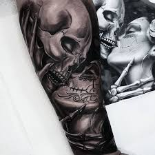 best 25 skull sleeve tattoos ideas on pinterest skull sleeve
