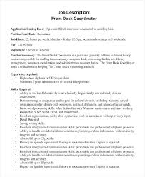 front desk agent duties front desk job description for resume foodcity me