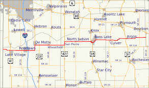 Buffalo State Map by Indiana State Road 10 Wikipedia