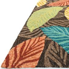 Outdoor Rug Turquoise by Shop Tropez Palm Brown Multicolor Outdoor Rug 9ft 3in X 13ft