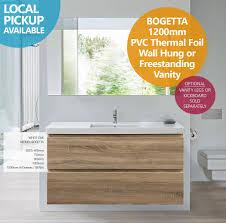 bogetta 1200mm white oak pvc thermal foil wall hung freestanding