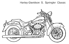motorcycle coloring getcoloringpages