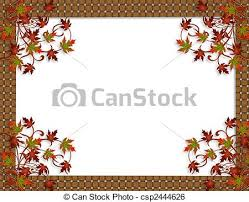 stock illustration of thanksgiving fall leaves border image and