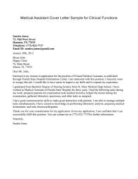 Medical Leave Letter Template Resume Cover Letter For Medical Assistant