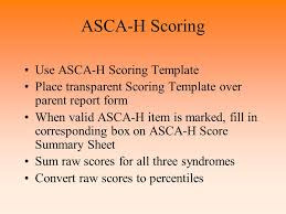 adjustment scales for children and adolescents home asca h ppt