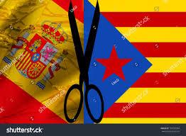Spanish Flag Spanish Flag Independence Blue Catalonia Stock Illustration