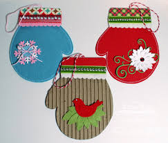 paper playhouse mft creative challenge mitten ornament gift