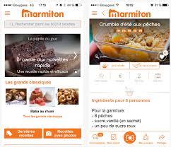 application recettes de cuisine dossier applications iphone et l de la cuisine