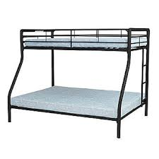 Essential Home Black Twin Over Full Metal Bunk Bed - Essential home bunk bed