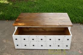 Free Plans To Build A Toy Chest by Ana White Apothecary Coffee Table With Toybox Trundle Diy Projects
