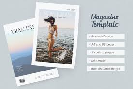 template magazine template