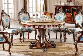 Luxury Dining Room Chairs European Style Luxury Dining Set Round Dining Table And Chairs