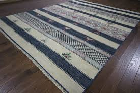 Area Rug 10 X 12 Modern Navajo Design Multicolor 10 U0027x12 U0027 Hand Knotted Wool Area Rug