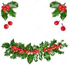 christmas garland european ilex u2014 stock photo madllen