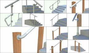 simple rail simplified handrail for stairs simplified building