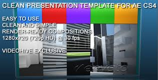 clean presentation template for after effects cs4 by batvfx