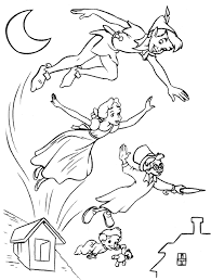 peter pan coloring pages kids u2013 barriee