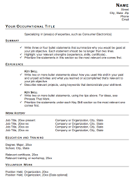 Sample Career Change Resume by Resume Templates Career Change Mytemplate Co