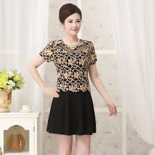 2017 women u0027s designer brand fashion older women dress summer