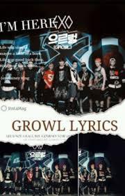 exo growl lyrics exo growl lyrics growl lyrics wattpad