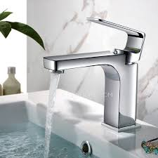 Modern Faucets For Bathroom Sinks Modern Square Chrome Finish Bathroom Sink Faucets